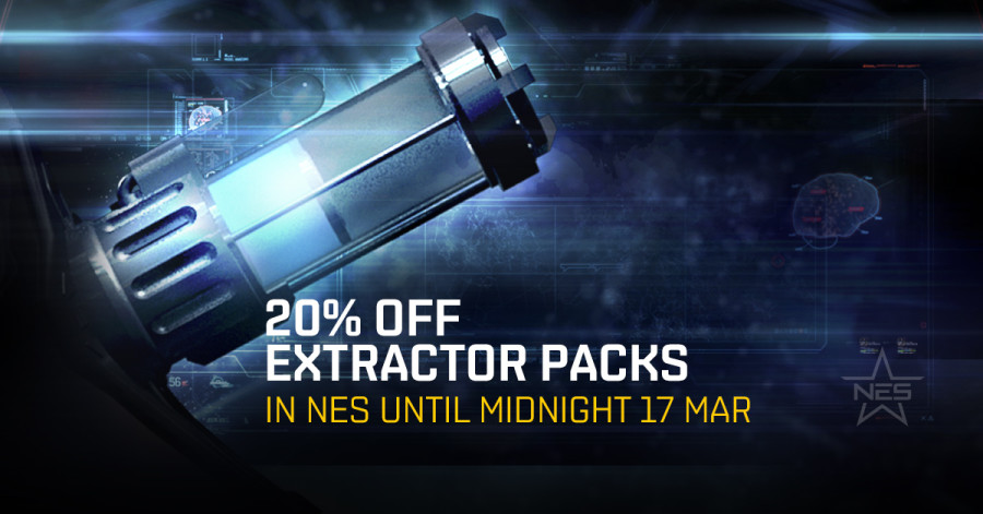 18:00 UTC – 20% Off Skill Extractor Packages In The New Eden