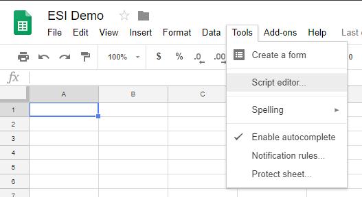 Tools -> Script Editor