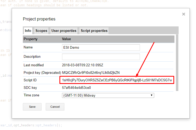 using esi with google sheets eve developers