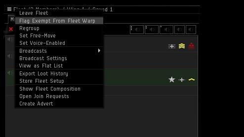 Fleet Warp Opt-Out - EVE Updates